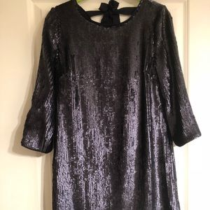 NWT J Crew navy sequin cocktail dress in size 0